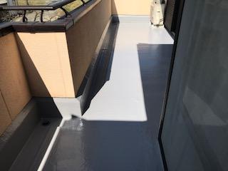 岡山市東区 T様邸 ベランダ床塗装