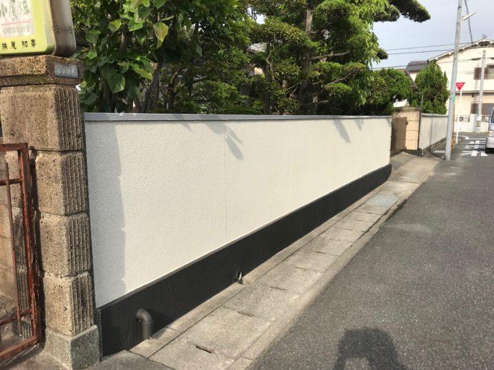 岡山市南区 N様邸 ブロック塀塗装