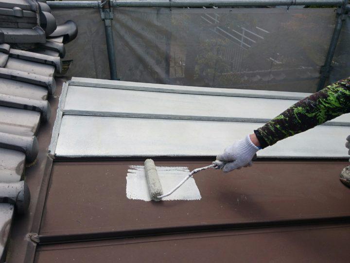 板金屋根 下塗り