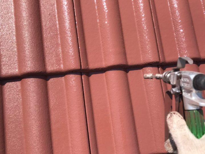屋根上塗り(吹付)