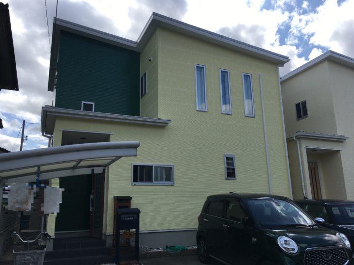 岡山市北区 K様 外壁無機フッ素塗装
