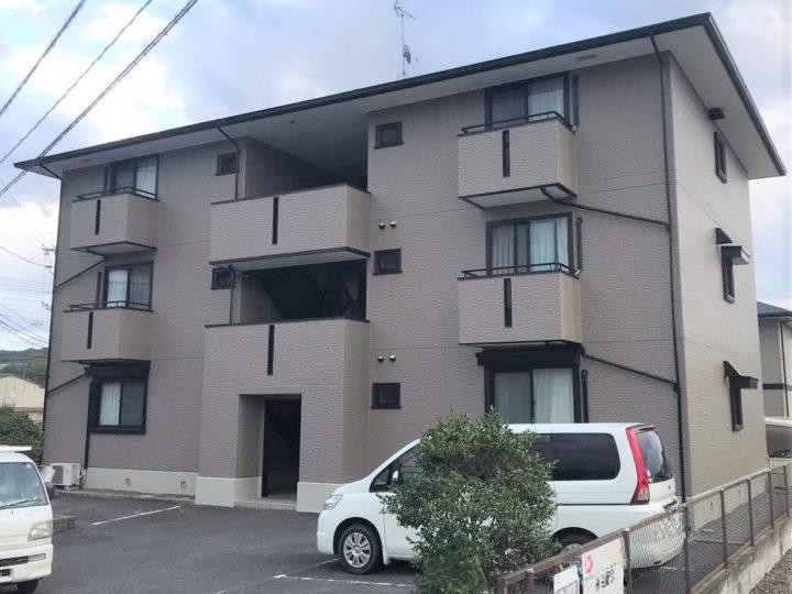 岡山市北区 マンション シリコン塗装