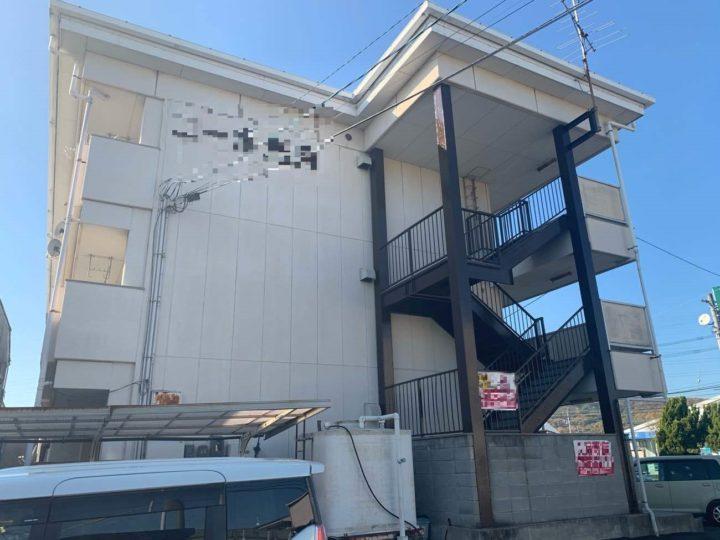 岡山市北区 某アパート ハイクラスフッ素塗装