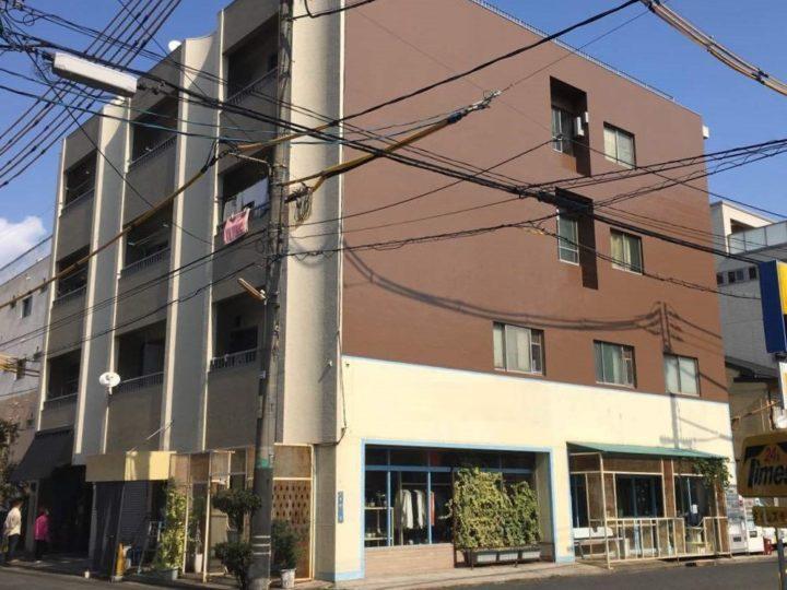 岡山市北区 テナントビル 無機ハイブリッド塗装