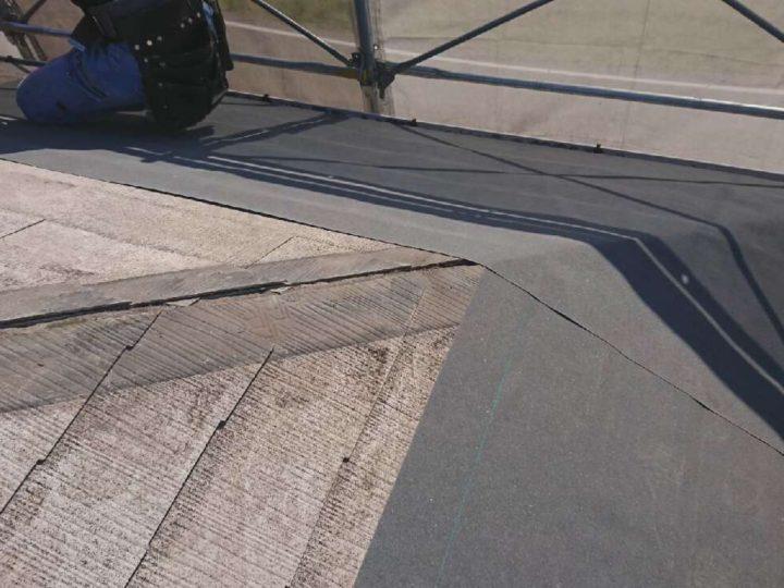 屋根防水シート張り