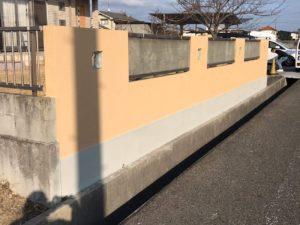 岡山市南区 Y様 塀塗装