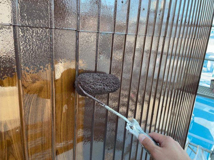 トタン壁中塗り