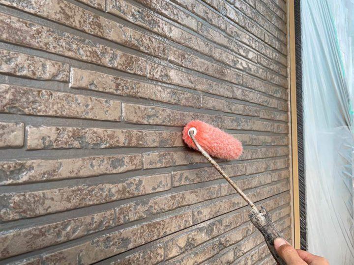 外壁上塗り(クリアー)