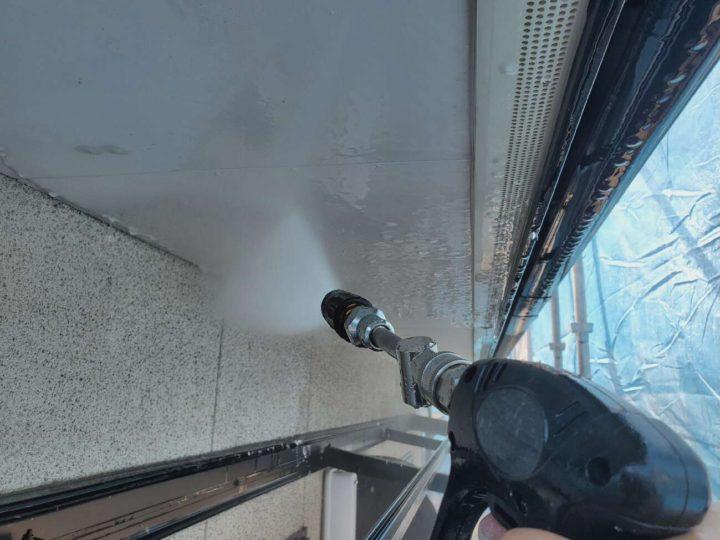 軒天高圧洗浄