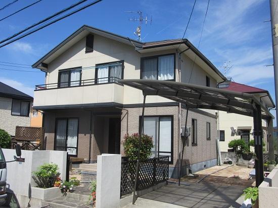 塗り替えリフォーム前の岡山市東区O様邸の写真