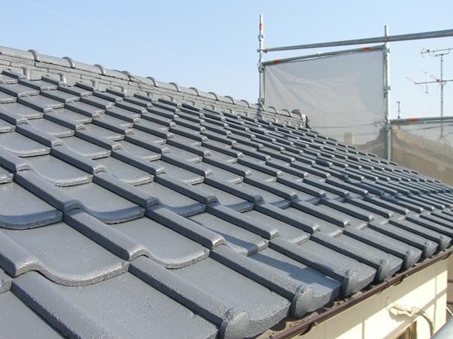 岡山市中区M様邸の施工完了後の屋根の写真