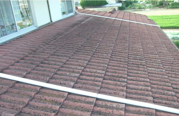 岡山市北区Y様邸の下屋根の施工前の写真