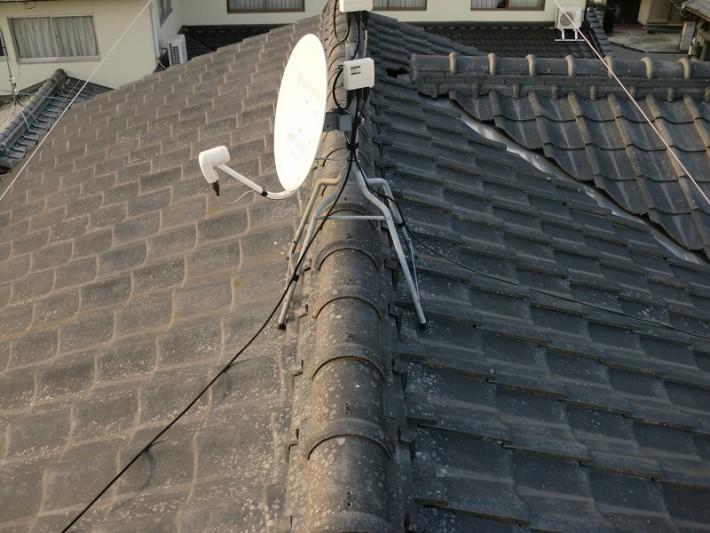 岡山市南区O様邸の施工前の屋根の状態の写真