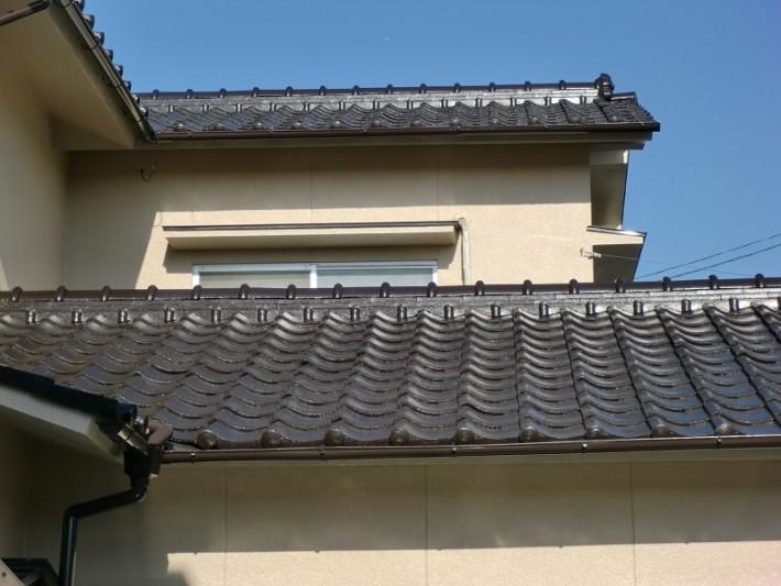 岡山市南区O様邸の施工後の屋根の写真