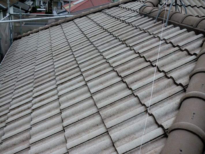 屋根塗装施工前写真