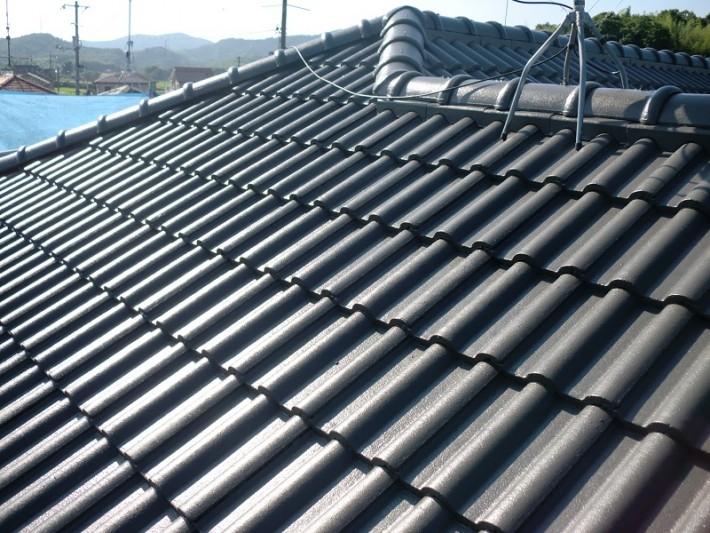 岡山市東区N様邸 屋根塗装終了写真