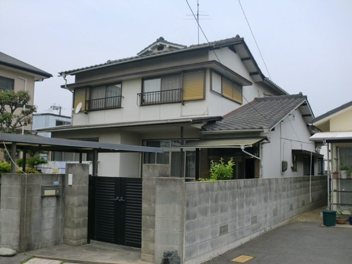 岡山市北区T様邸の施工前の状況写真です