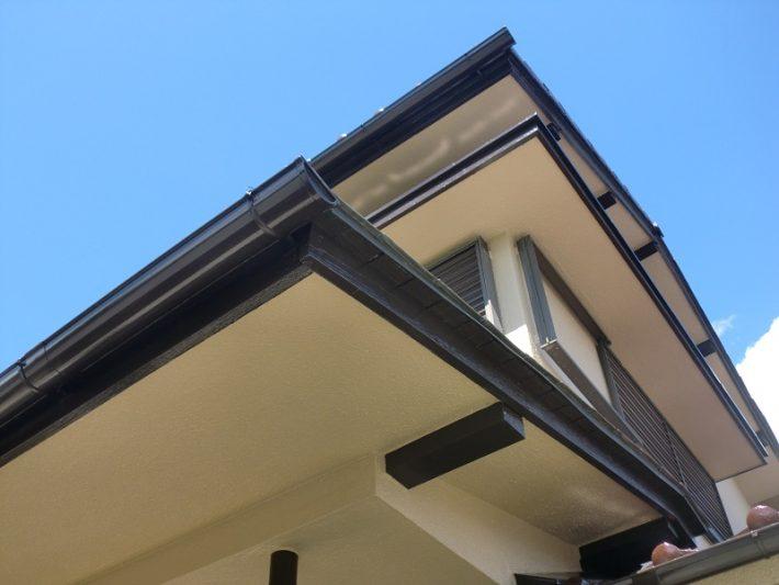 岡山市北区T様邸の施工後の軒天井
