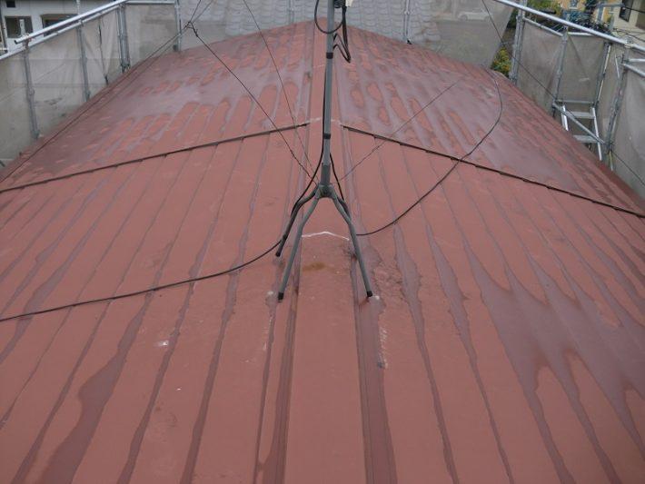 岡山市北区K様邸 瓦棒屋根 施工前全景の写真