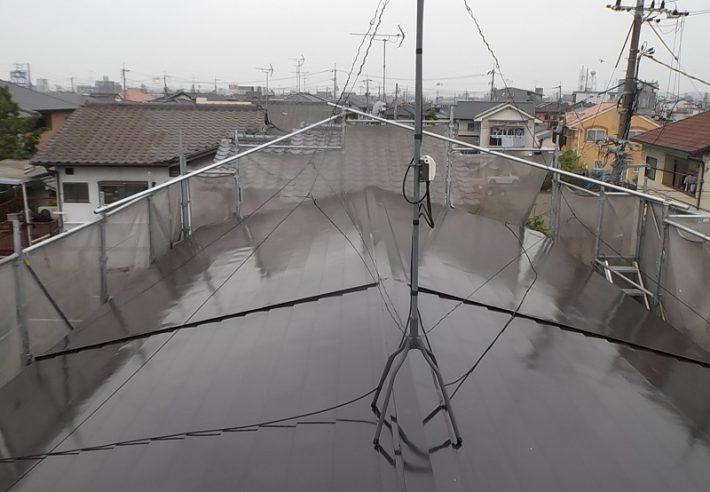 岡山市北区K様邸 瓦棒屋根 完成写真