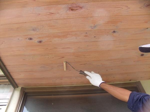 岡山市北区N様邸の木材保護塗料キシラデコール施工状況