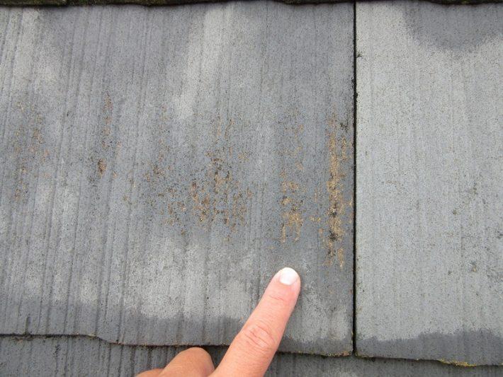 岡山市中区M様邸屋根カラーベスト劣化状況