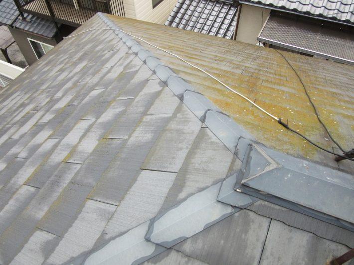 岡山市中区M様邸屋根カラーベスト施工前の状況