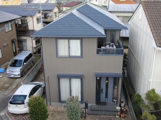 岡山市中区H様邸塗装完成写真