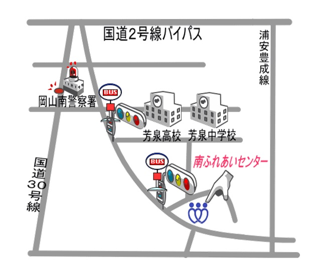 南ふれあいセンター地図 (1)
